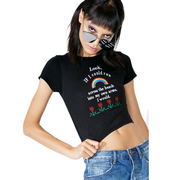 O Mighty Into My Own Arms Crop Tee