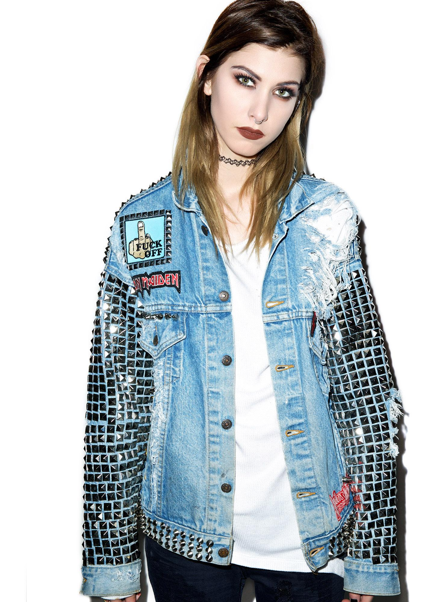 Hazmat Design Metal Head Studded Jacket