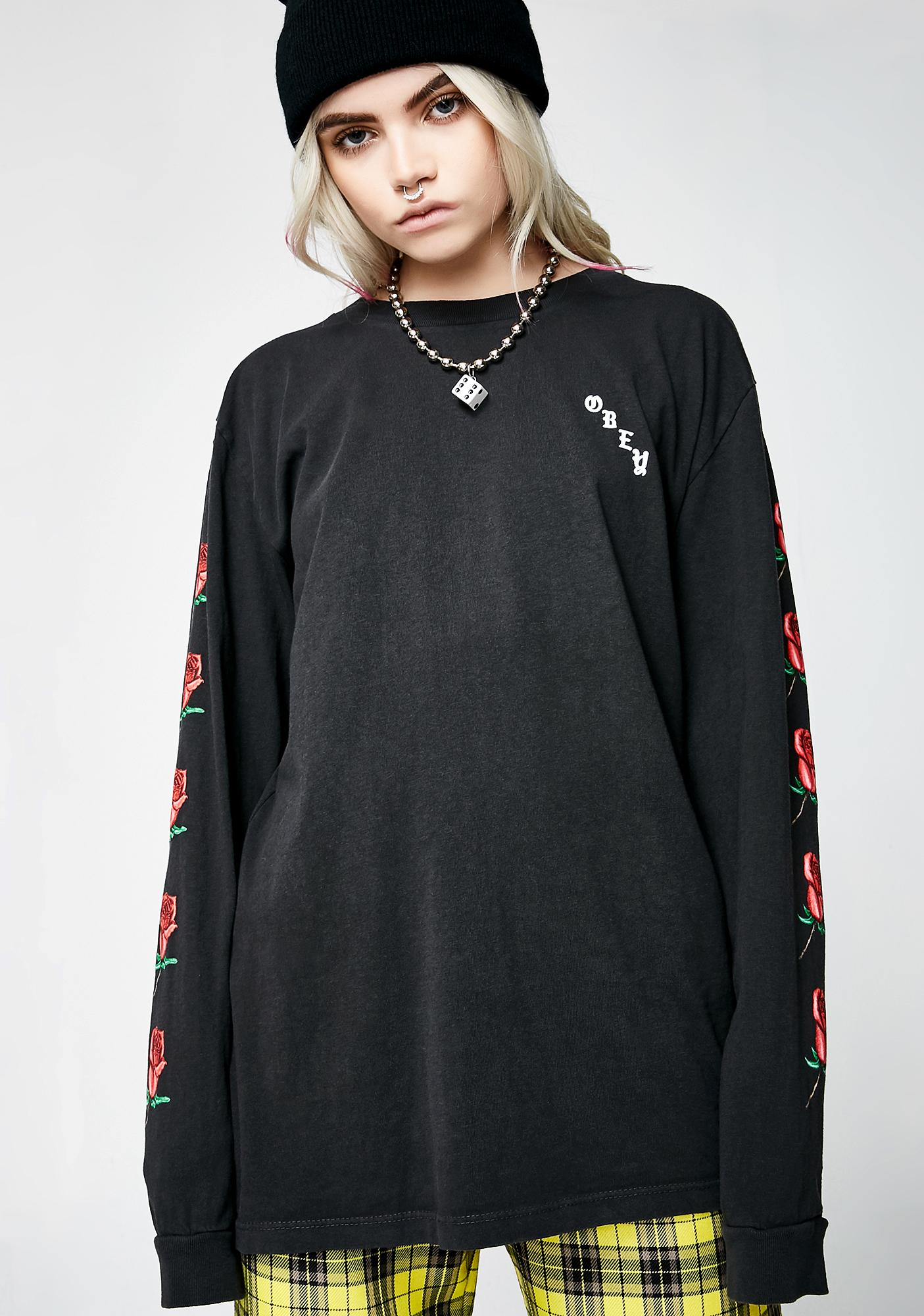 Obey Slauson Rose Long Sleeve Tee
