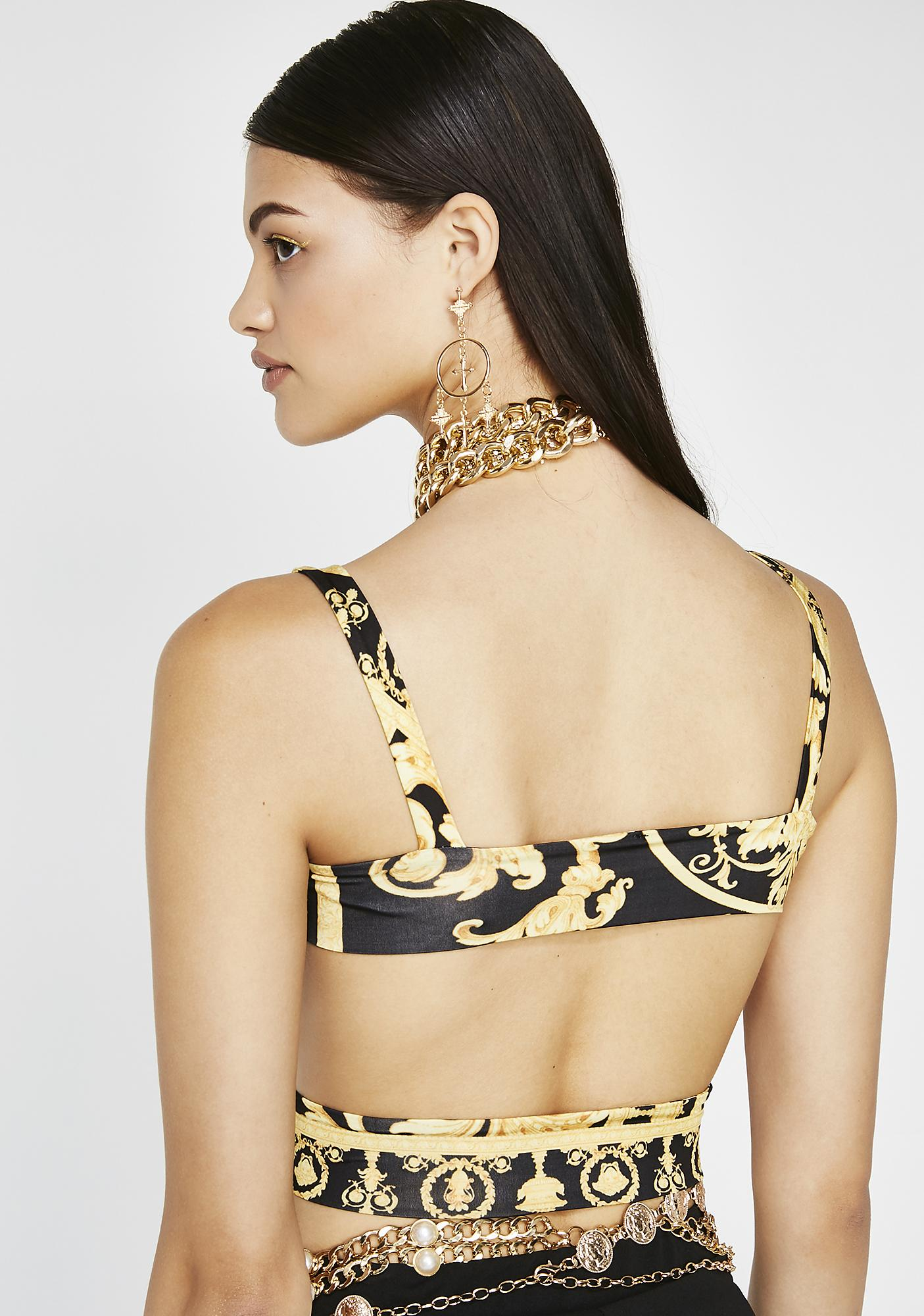 Taste This Gold Crop Top