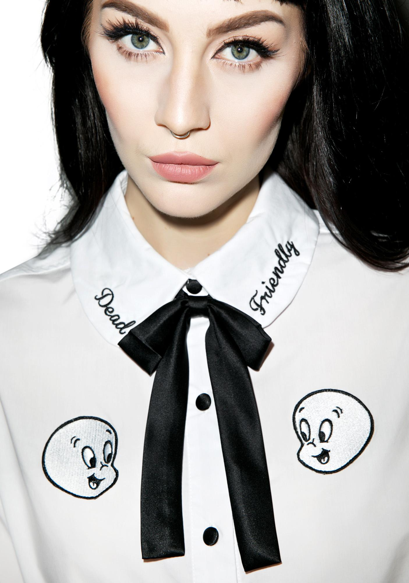 Lazy Oaf X Casper Friendly Dead Shirt