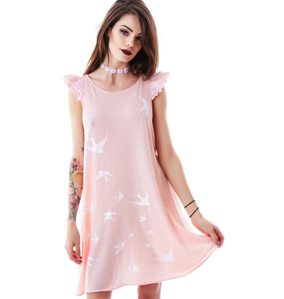 Wildfox Couture Swallows Wildflower Dress
