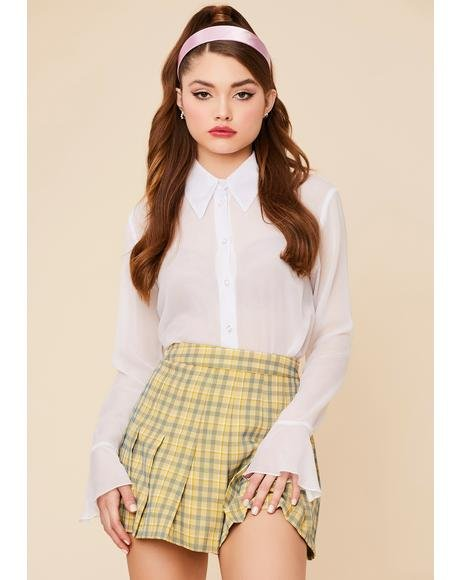 Not So Clueless Plaid Mini Skirt