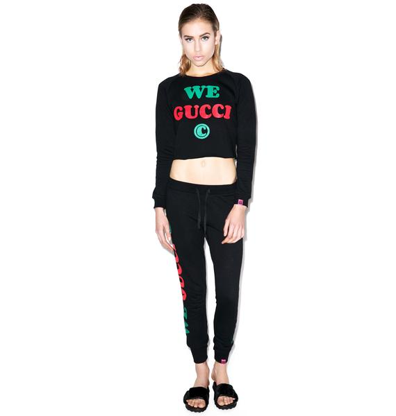 Married to the Mob We Gucci Cropped Crewneck