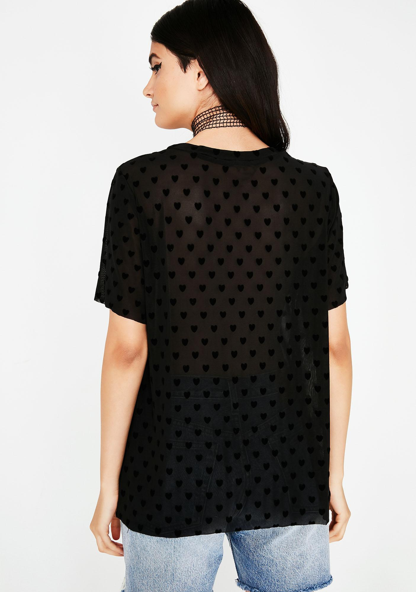 Black Heart BB Sheer Tee