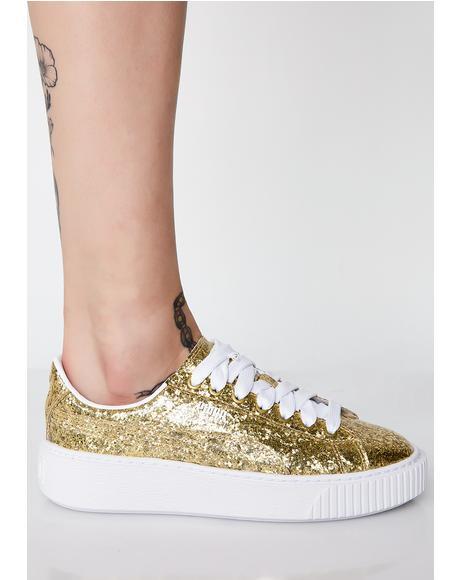 Basket Platform Glitter Sneakers