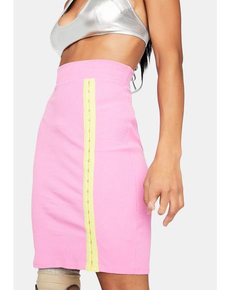 Blush Classy Moves Ribbed Skirt