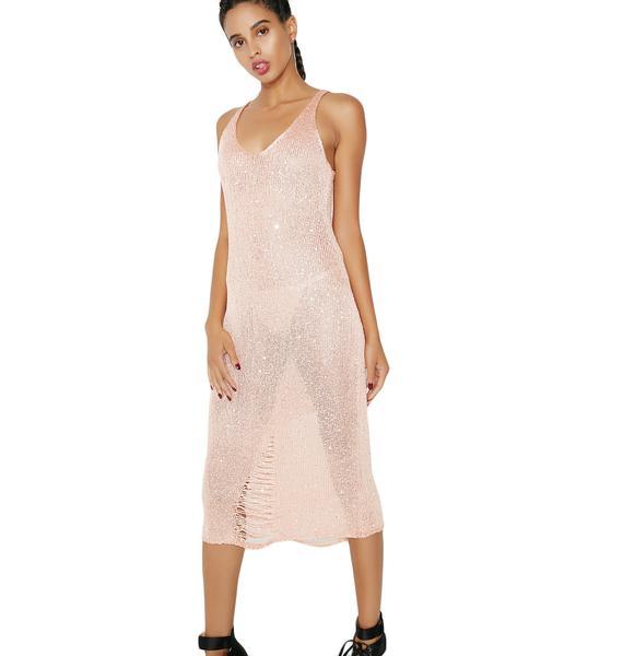 As I Am Fire Dust Midi Dress