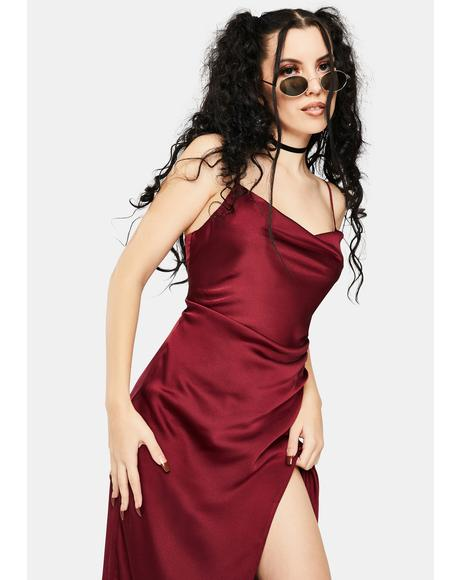 Burgundy Maddy Maxi Slip Dress