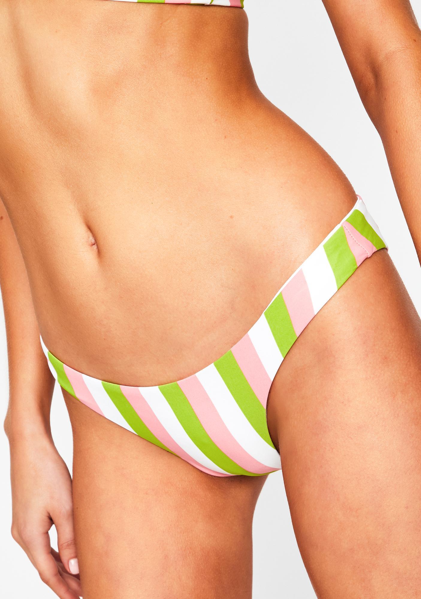Dippin' Daisy's Guava Stripe Nocturnal Bikini Bottoms