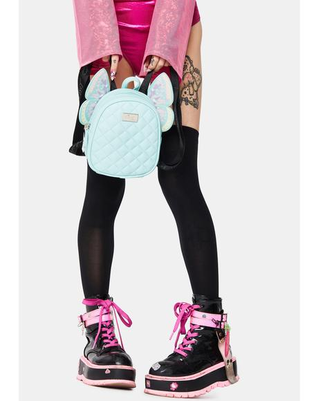 Mint Butterfly Backpack