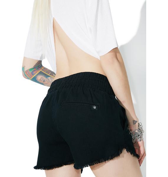 Cheap Monday Flow Jaded Black Shorts