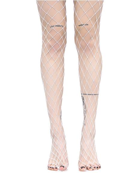 Ice Diamond Doll Fishnet Stockings
