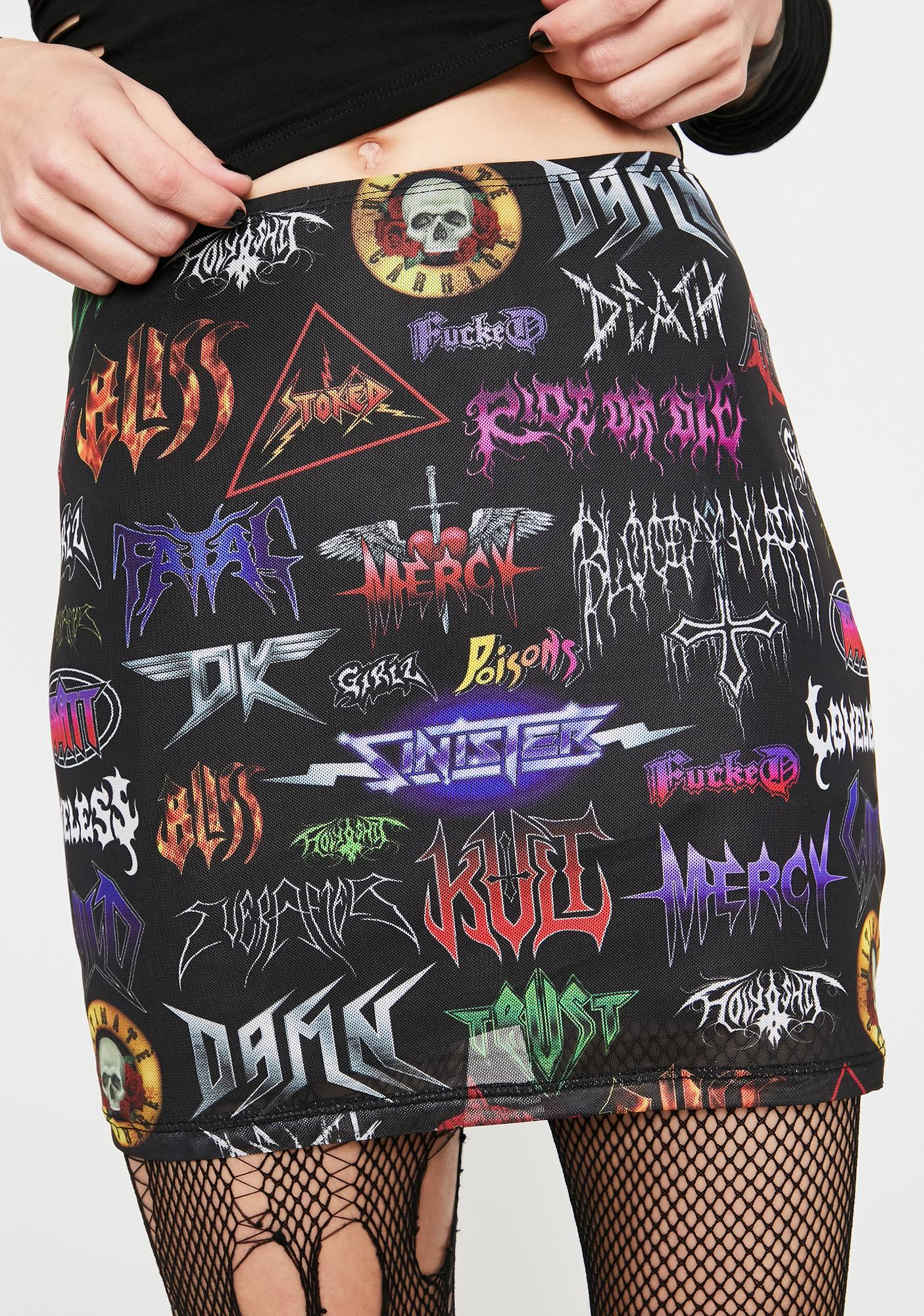 Current Mood Metal Empire Mesh Skirt