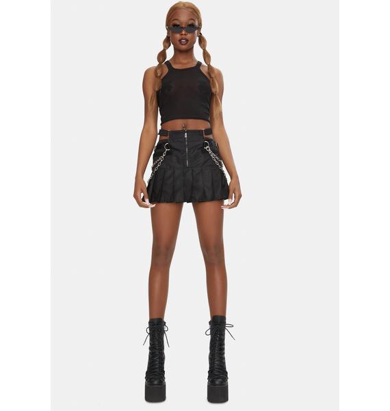 Namilia Nylon Pleated Thong Skirt