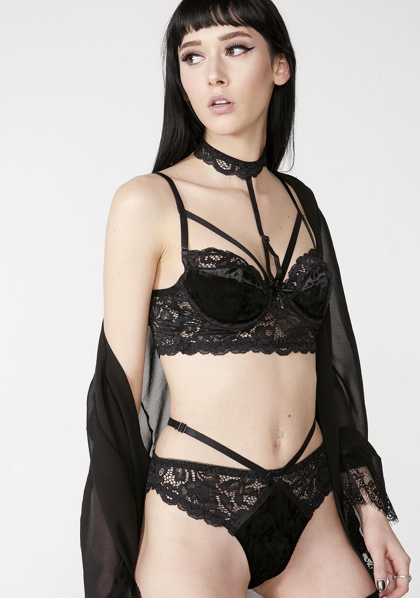 Killstar Obsidian Boudoir Panty