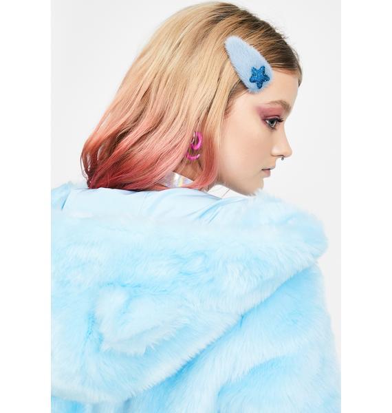 My Wish Fuzzy Hair Clip