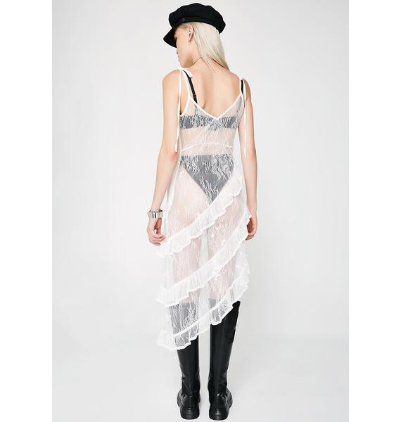 Icy Darker Romance Sheer Dress