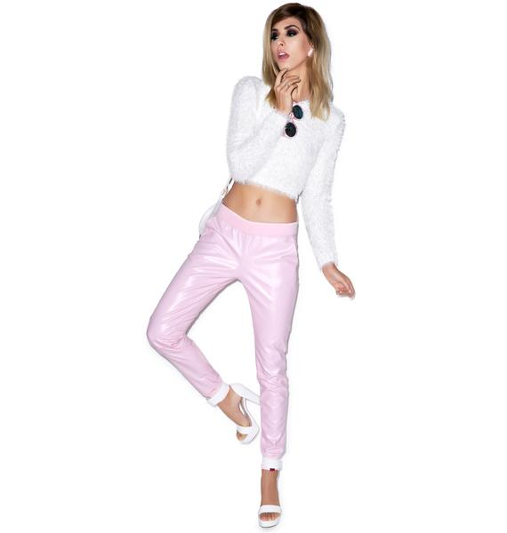Married to the Mob Faux Leather Jogger