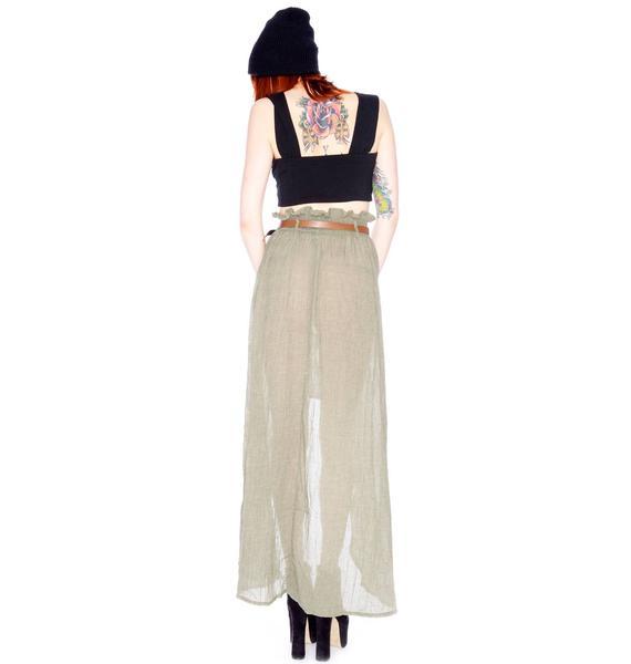 Minkpink Nimbin Belted Skirt