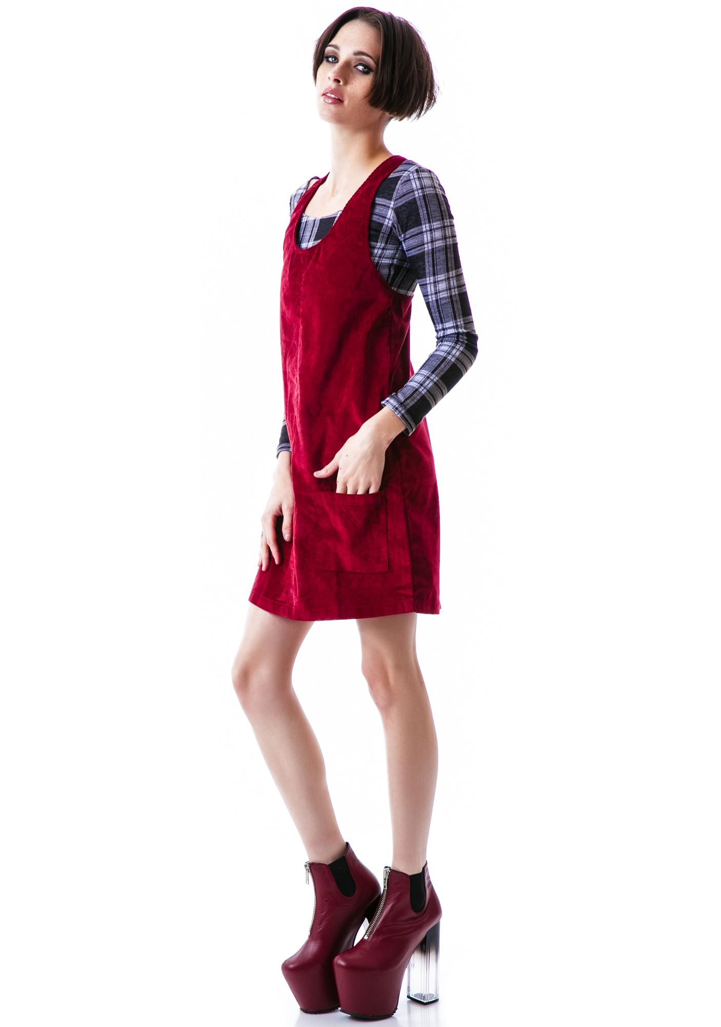 Mink Pink Be Mine Pinafore Dress