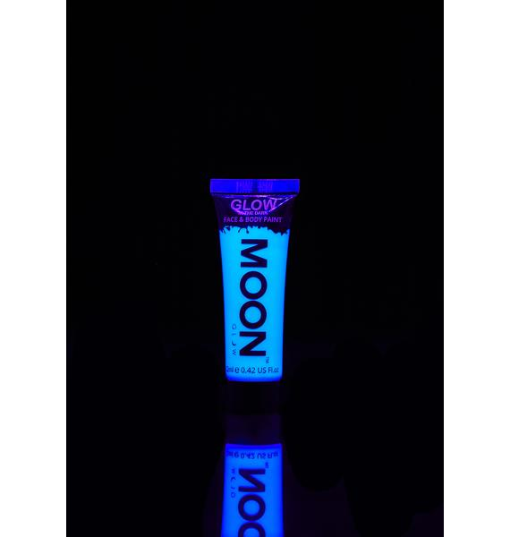 Moon Creations Blue Glow In The Dark Face N Body Paint