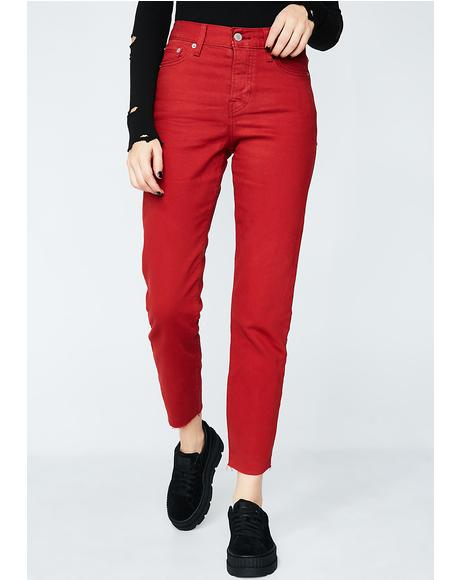 Cherry Wedgie Icon Fit Jeans