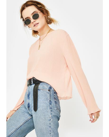 Marshmellow Long Sleeve Top