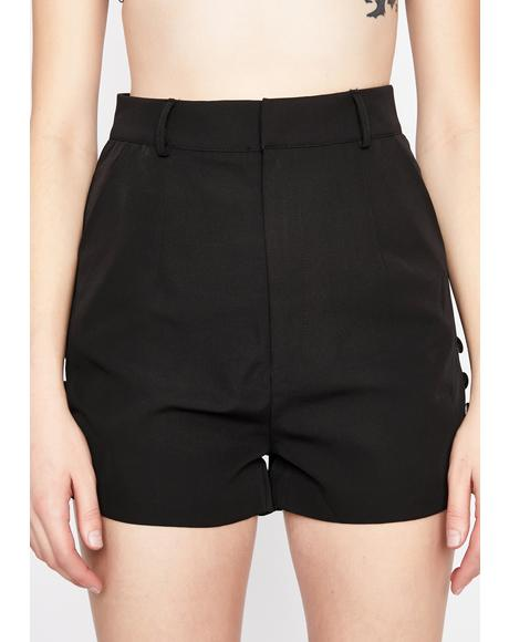 Blackout Not A Contest High Waist Shorts