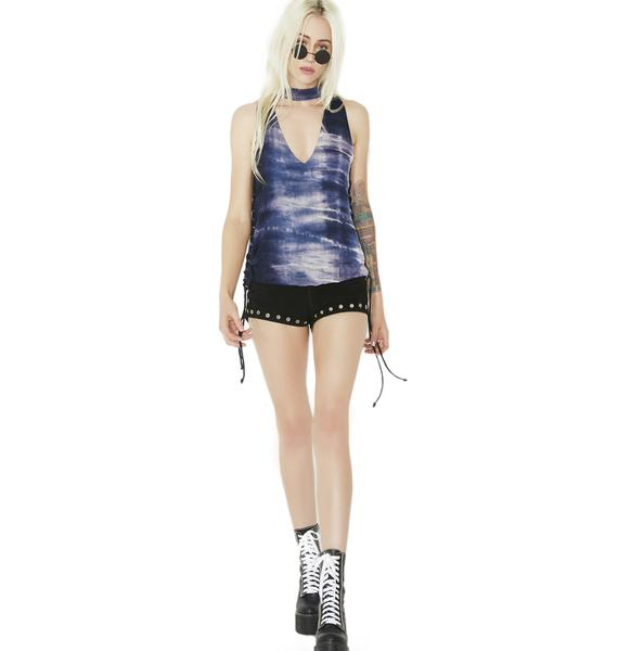 Lonely Road Lace-Up Cut-Out Tank
