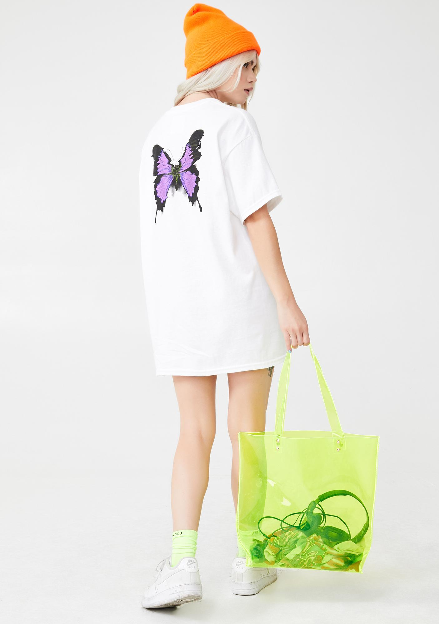 Petals and Peacocks Crazy Beautiful Graphic Tee