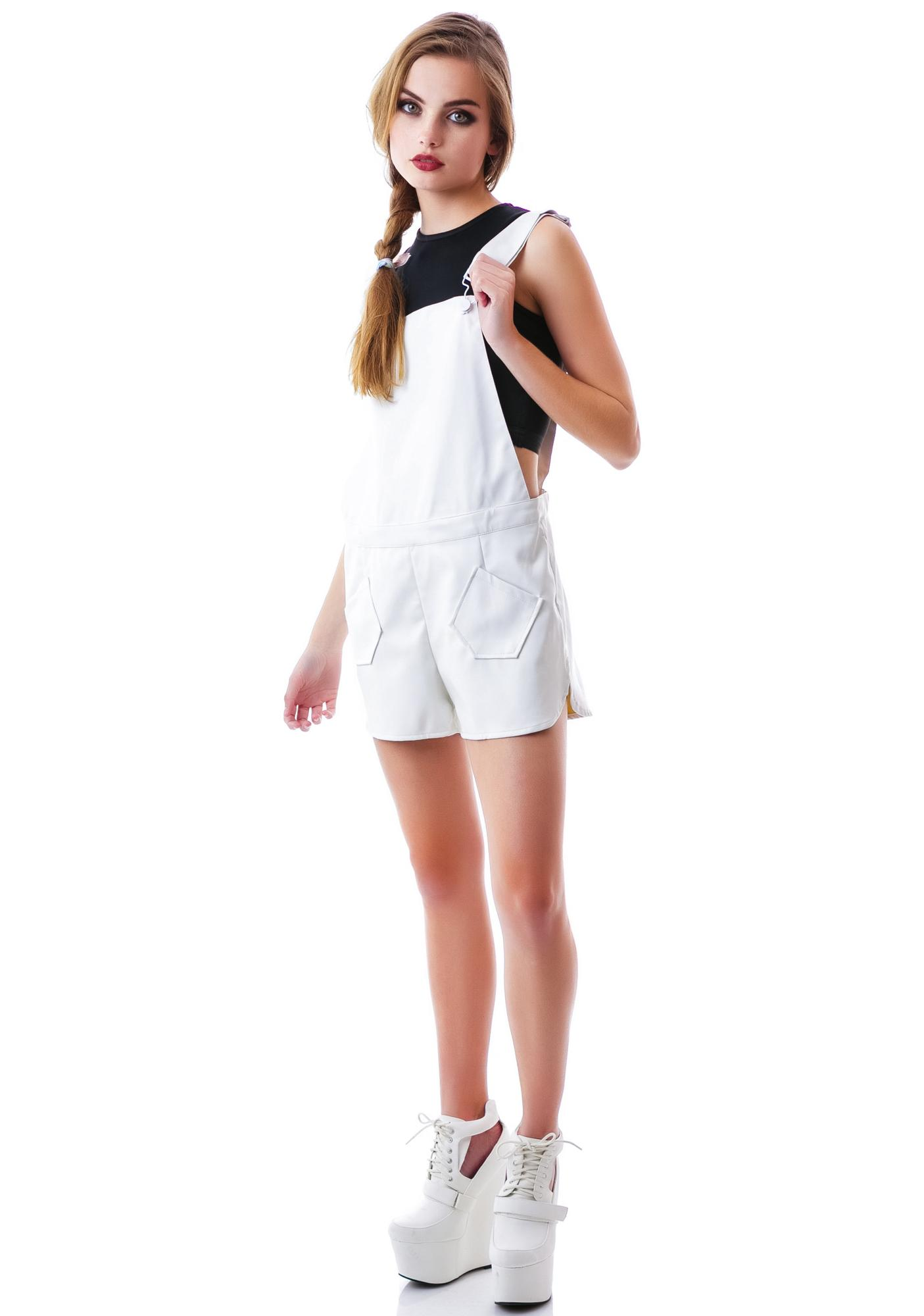 Olivia Veggie Leather Overall Shorts
