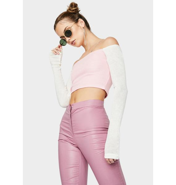 ZEMETA Dia Off The Shoulder Crop Top