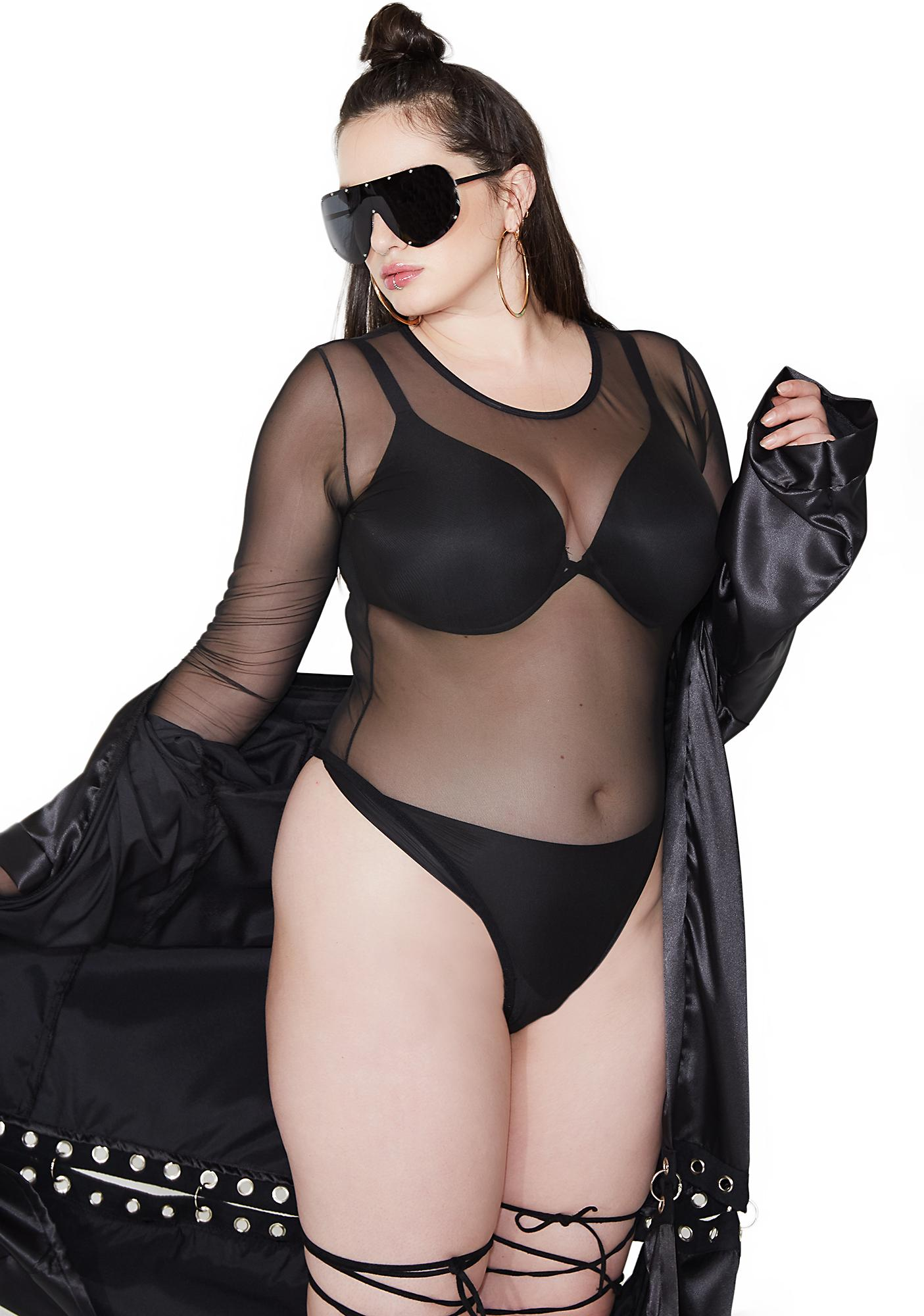 Poster Grl Anything But Basic Sheer Bodysuit