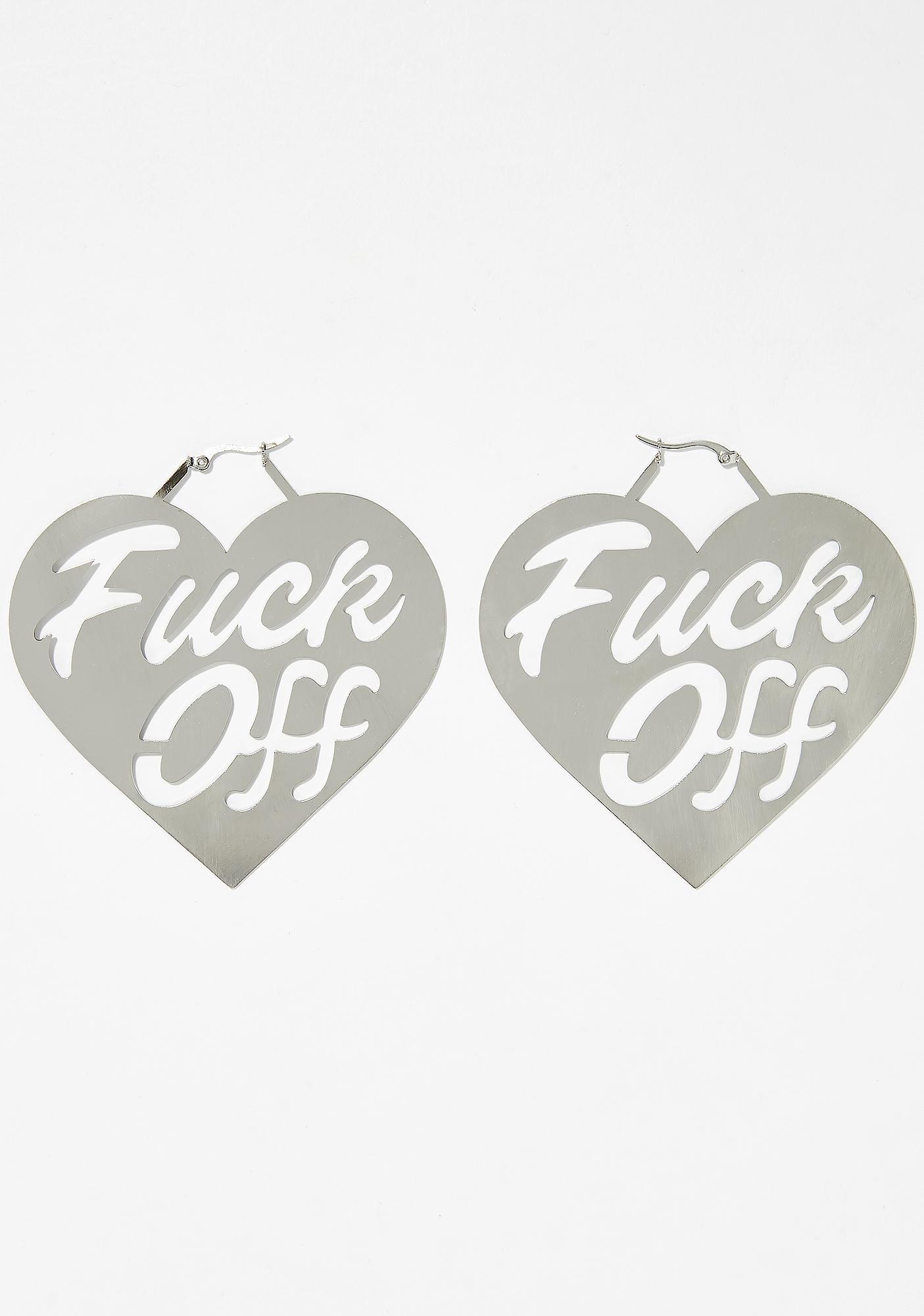 Say It Nicely Heart Earrings