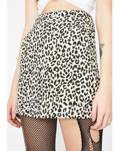 Go Berserk Leopard Skirt