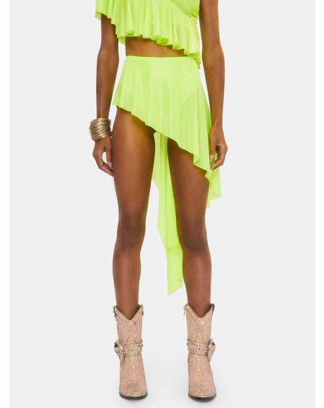 Electric Chapel Mesh Ruffle Skirt