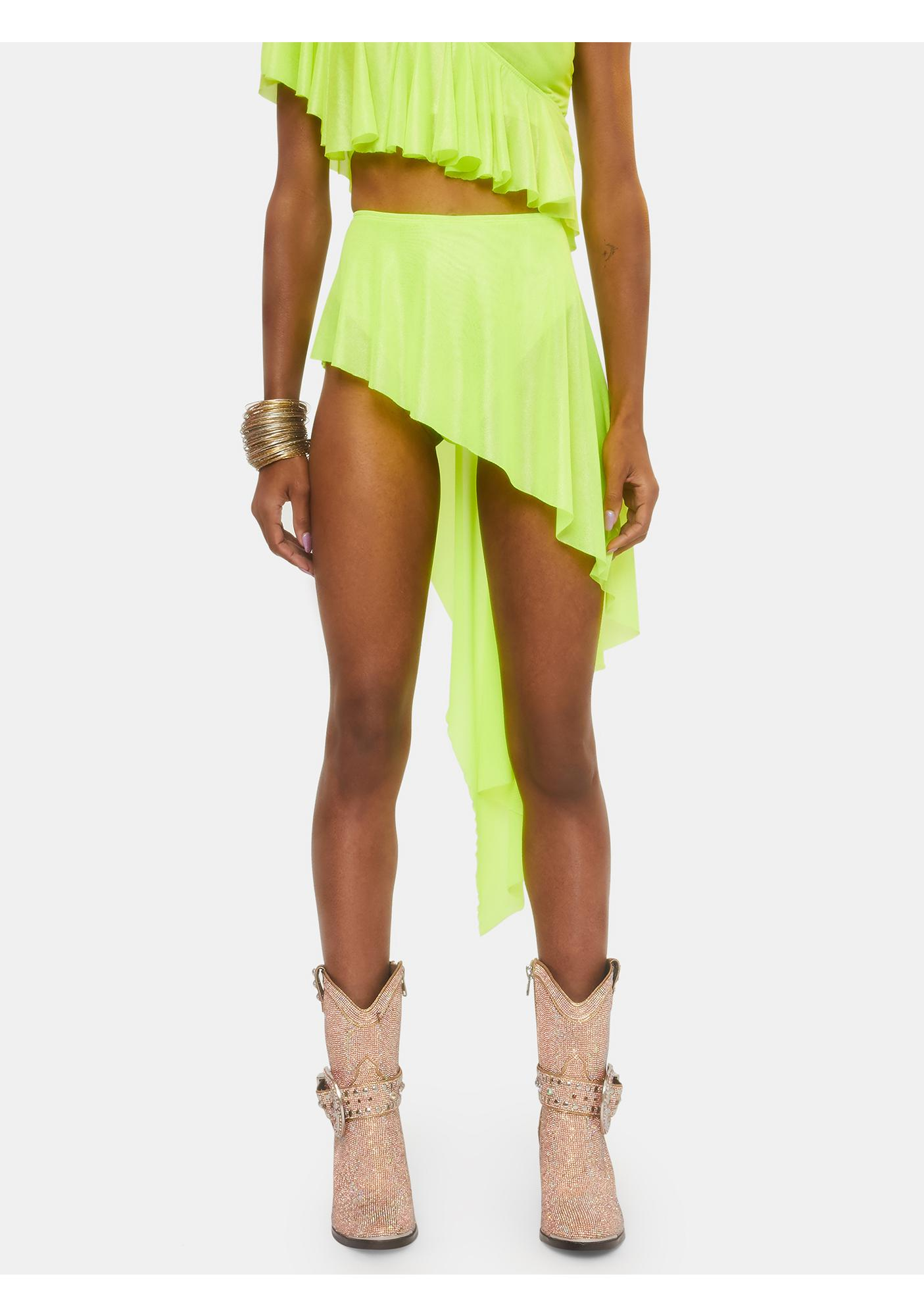 Club Exx Electric Chapel Mesh Ruffle Skirt