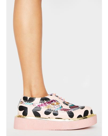 Pink Stage Skool Platform Sneakers