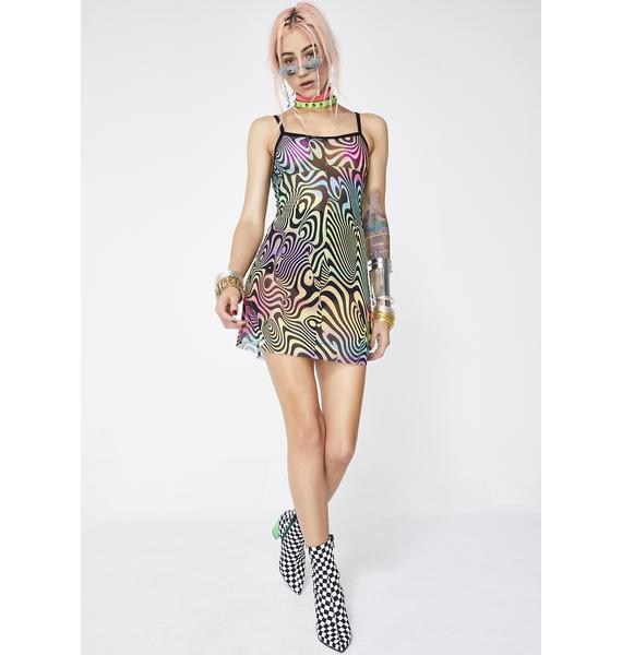 Current Mood Hypnotic Illusion Mini Dress