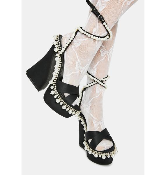 Sugar Thrillz Diamond Romance Platform Heels