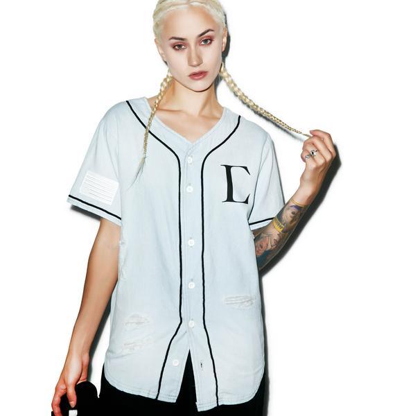 Civil Clothing Civil Regime Denim Baseball Jersey