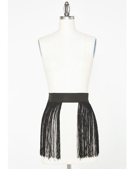Ambient Garden Fringe Skirt