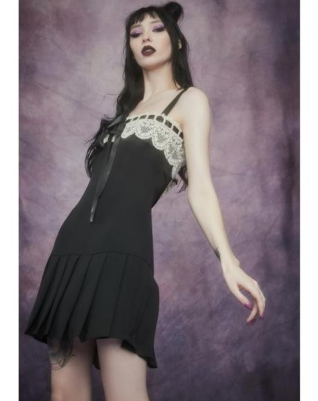 Lesser Evil Pleated Mini Dress