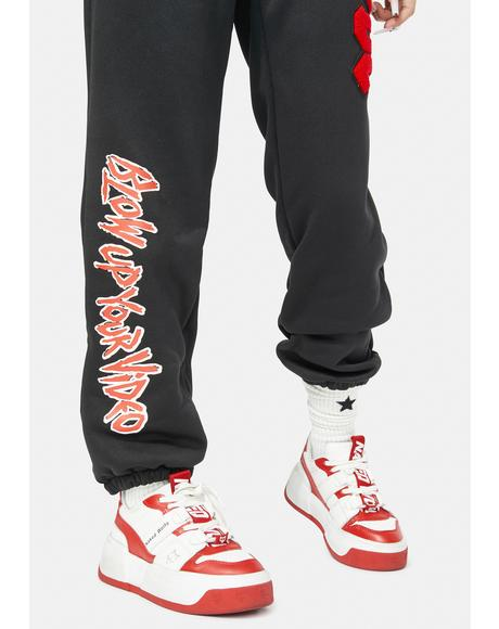 X AC/DC Video Joggers