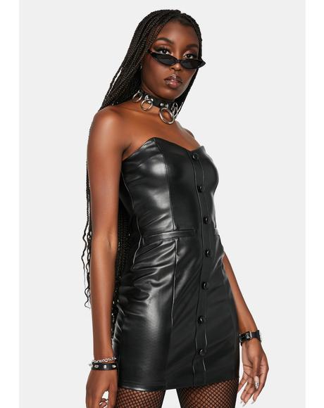 Spotlight Rockstar Faux Leather Mini Dress