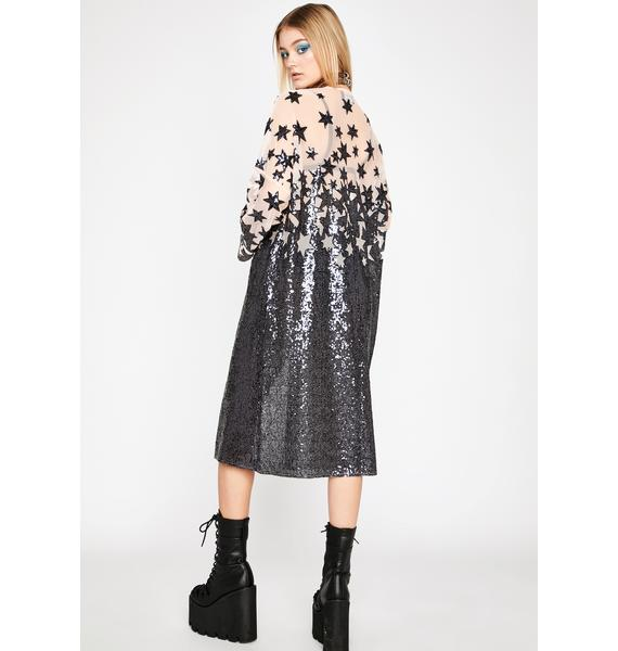 Midnight Stars Sequin Duster