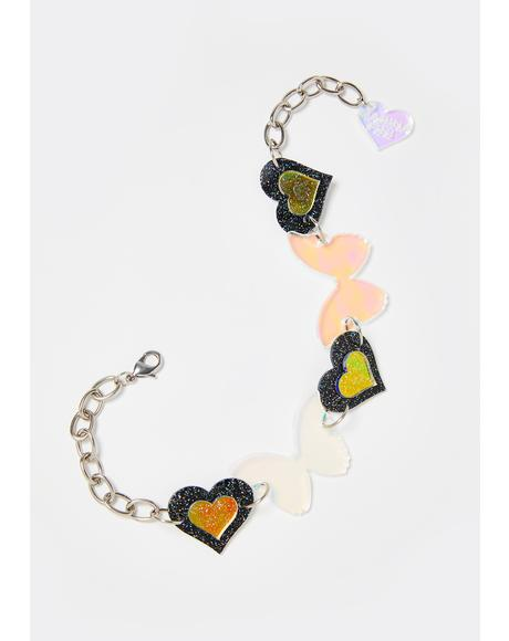 Butterfly Love Iridescent Choker