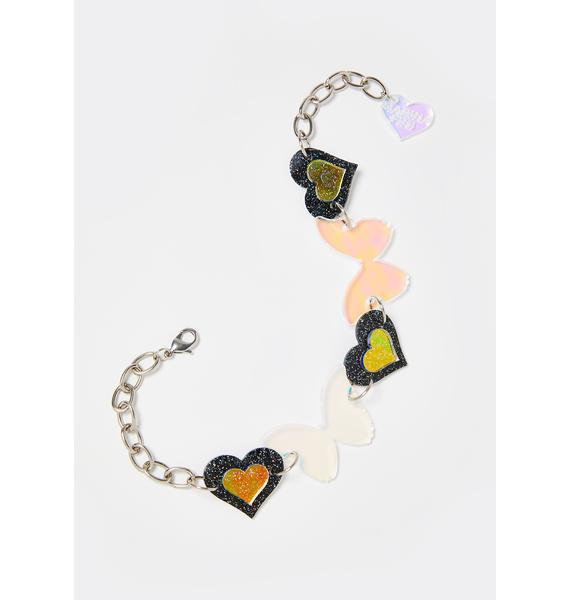 Marina Fini Butterfly Love Iridescent Choker