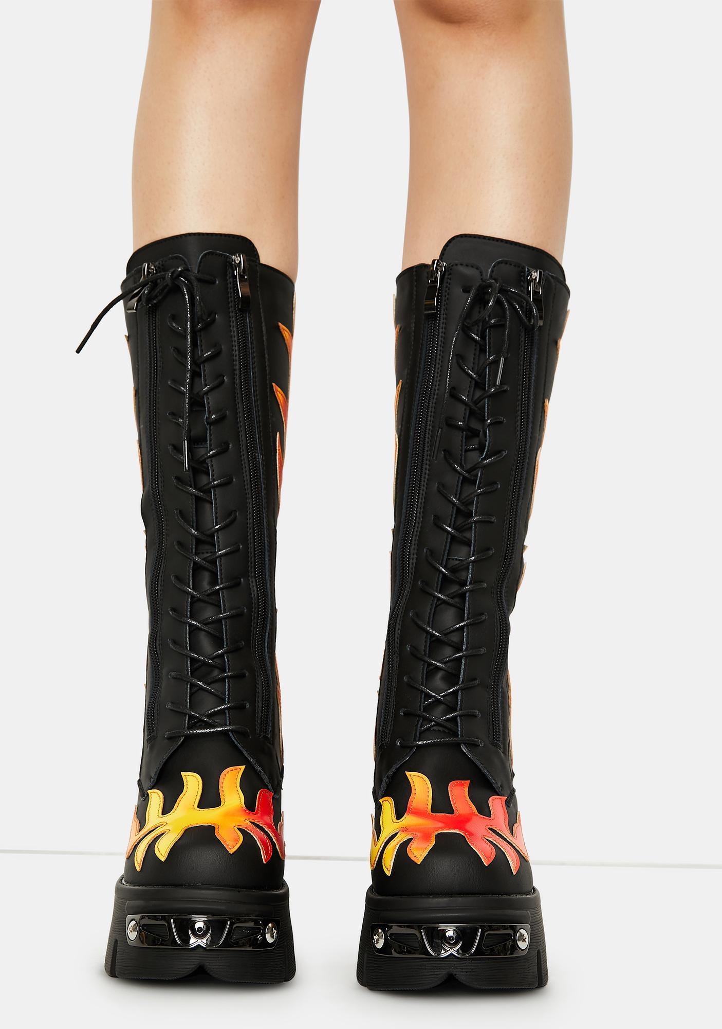 Phoenix Rage On Flame Platform Boots